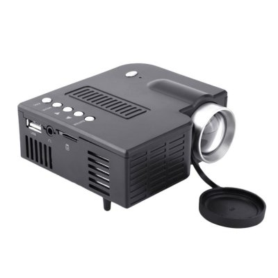 Mini Portable LED Projector 1080P Multimedia Home Cinema Theater LED Beamer Projector for Home Use Black AU plug