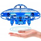 "Blue Mini Quadcopter Drone - ""Force1 Scoot"" Hands Free Hover Drone"
