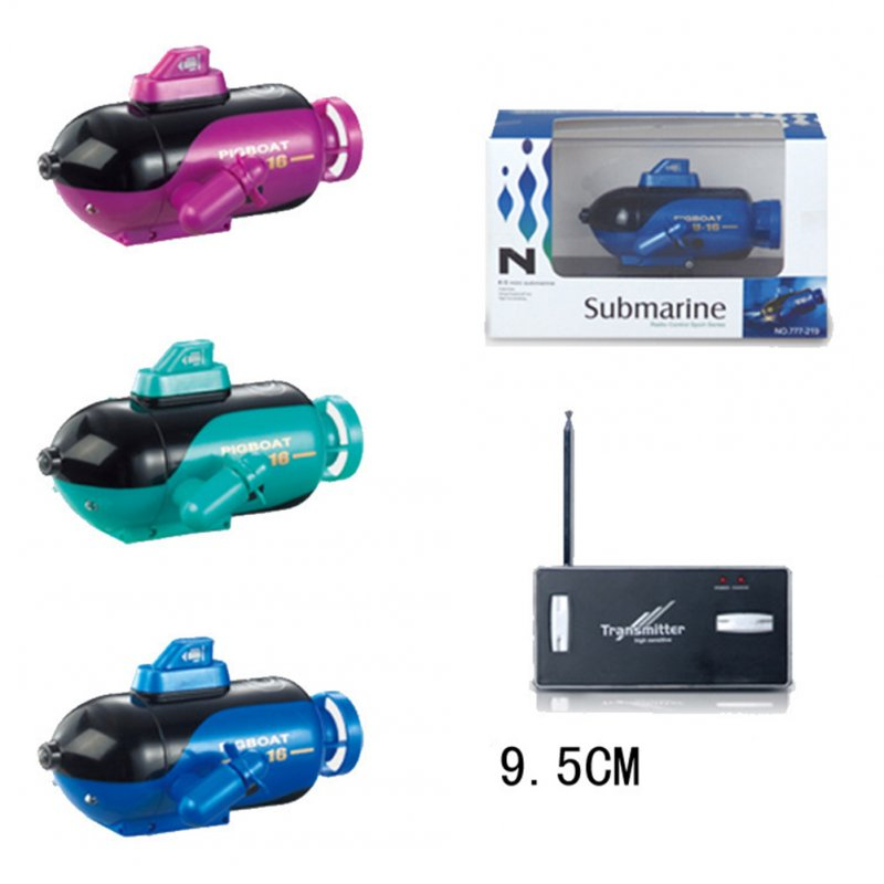 Mini Remote-control Submarine Model Toy Children Waterproof Intellectual Diving Boat Toy Christmas Gift colors random
