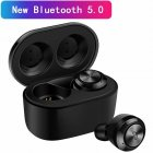 Mini TWS Wireless Earbuds Bluetooth 5 0 Headphone Sport HiFi Stereo Bass Headset black