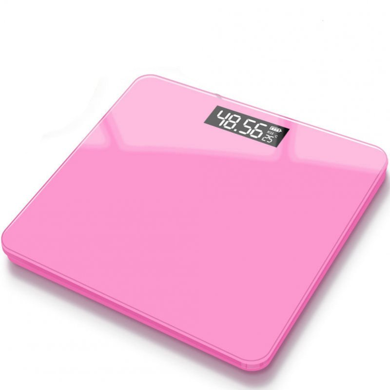 Mini USB Charging Smart Electronic ​Digital Household Weighing Scale Romantic pink_Charging