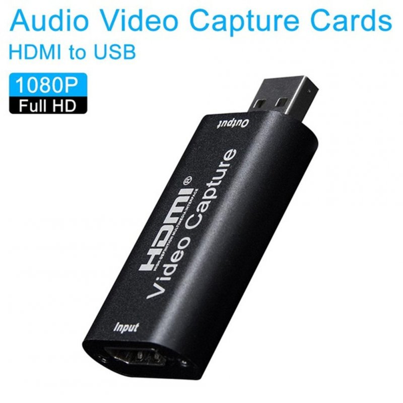 Mini Video Capture Card USB 2.0 HDMI Video Capture Grabber Phone Game Camera Capture Recording Box IOS To HDMI/ Type-C To HDMI Capture card