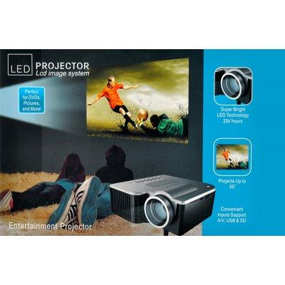Pc dvd mini led portable multimedia projector portimax for Mini projector for presentations