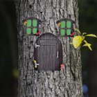 Miniature Fairy Gnome Home Window Door For Trees Yard Art Garden Sculpture Decoration Random Color