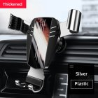 Mirror Metal Car Phone Holder Fixed Air Outlet Clip Charging Gravity Portable Universal for iPhone Huawei Accessories ABS silver