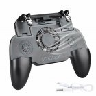 Mobile Phone Game Controller Joystick Cooling Fan Gamepad for PUBG Android IOS black