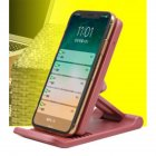 Mobile Phone Holder Wireless Charger Adjustable Mobile Phobe Bracket Vertical wireless charging Suitable for Apple Samsung Pink