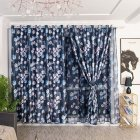 Modern Printing Shading Curtains for Living Room Bedroom Kitchen Window Decor Navy blue lantern with white silk shading curtains_1m wide x 2.5m high