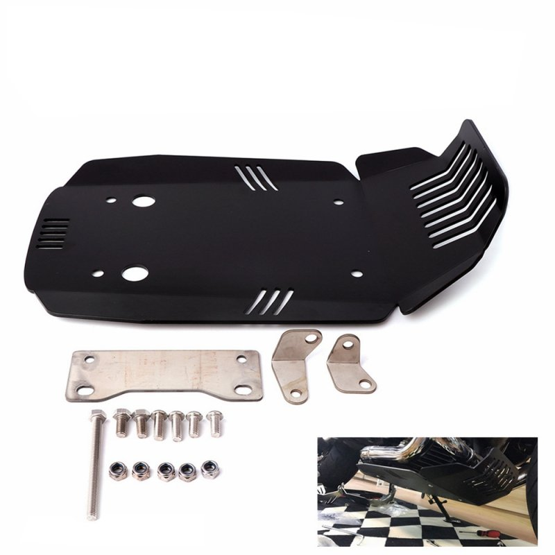 Modified Chassis Protective Shield for Motorcycle Engine for BWM R NINE T R9T 13-18 black