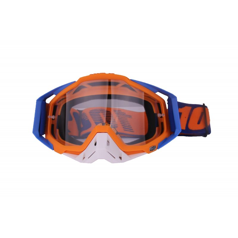 Motocross Goggles Motorcycle Glasses Racing Moto Bike Cycling Gafas Sunglasses  Blue orange + white