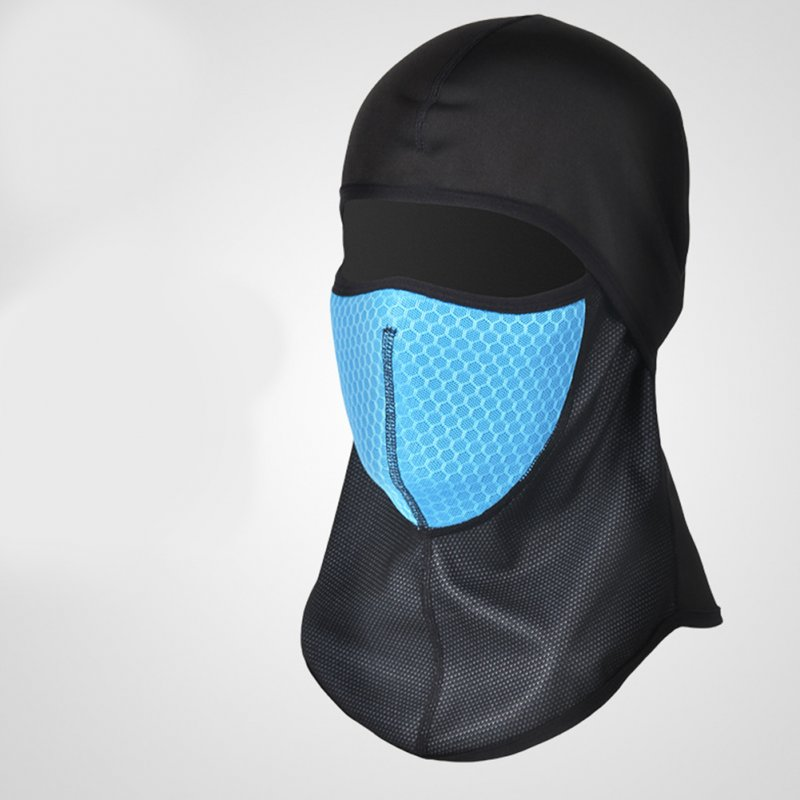 Motorcycle Head Covering Masks Windproof Cold Proof Cycling Masks Balaclava Cap Motorcycle Head Covering Masks blue_One size
