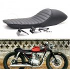 Motorcycle Hump Cafe Racer Vintage Soft Seat Cover for Honda CB 400 550 750 ABS+PU Leather 62x21.5x15cm black
