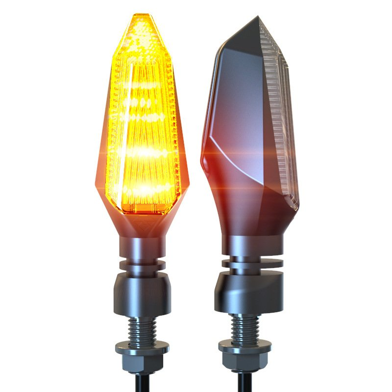 Motorcycle LED Turn Signal Lights Amber Lamp Left Right Signals Indicators Blinkers Highlight Yellow light