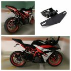 Motorcycle Modification Light Frame Short Style Plate Frame for KTM RC390 DUKE390 17-19-19 black