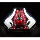 Motorcycle Rear Tail Light Brake Turn Signals Integrated LED Light for Yamaha R25 R3 MT03 MT07 white