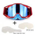 Motorcycle Riding Cross-country Goggles Outdoor Glasses Set with Transparent Lens and Tearable Film