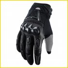 Motorcycle Riding Gloves Motocross Carbon Fibre Leather Racing Gloves black_L