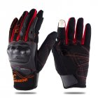 Motorcycle Riding Gloves Anti-slip  Anti-fall Racing Knight Gloves  Touchscreen Safe Gloves red_M