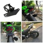 Motorsports License Plate Frame with Light Compatible for KAWASAKI NINJA250/400 Z900 z650 black