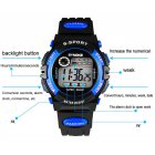 Multi Function Sports Watch LED Digital Waterproof Alarm Electronic Watch