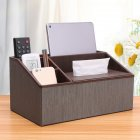 Multi Functional Leather Tissue Box Napkin Holder Tabletop Remote Controller Phone Organize classical vertical