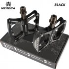 MEROCA Mountain Bike Pedal witn 3 Bearings Aluminum Alloy Bearing Ultra-light Pedal black