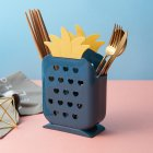 Multifunction Chopstick Cage Drain Rack Cartoon Pineapple Shape Storage Box for Cutlery blue