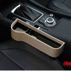 Multifunction Leather Storage Box for Car Seat Side Gap Leather beige Main driver