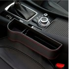 Multifunction Leather Storage Box for Car Seat Side Gap Leather black Main driver