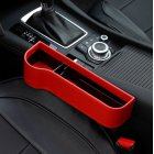 Multifunction Leather Storage Box for Car Seat Side Gap Leather red Main driver