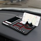 Multifunctional Car Anti-Slip Mat Auto Phone Holder Silicone Car Pad Mat red