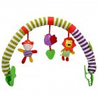 Music Bed Clip Hanging Bell Pendant Clip Moving Rattle Toy for Baby Stroller Safety Seat  Bird lion