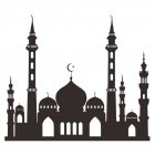 Muslim Ramadan Festival Decoration Mosque Pattern Wall Sticker Decal Poster Home Decor 49.6x57cm