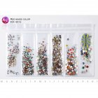 Nail Art Rhinestones Glitter Crystal Gems Tips Manicure 3D Decoration Red mixed color