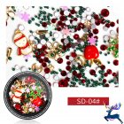 Nail Jewelry Christmas Nail Sequins Glitter Rhinestones Santa Claus Snowflake Studs Mixed Manicure DIY Manicure Tools SD-04