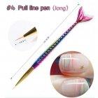 Nail Painting Tool Mermaid Tail Acrylic UV Gel Brush Drawing Line Nail Art Pen  04 long pull pen