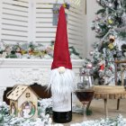 New Christmas Decorations Faceless Old Man Doll Wine Bottle Set Christmas Champagne Decoration Wine Bag Gift Bag red
