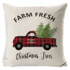 New Christmas Pillowcase Pillow Cover Cushion Cover Home Nordic Style Linen Pillow Case A1_45*45cm pillowcase