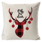 New Christmas Pillowcase Pillow Cover Cushion Cover Home Nordic Style Linen Pillow Case A2_45*45cm pillowcase