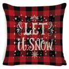 New Christmas Pillowcase Pillow Cover Cushion Cover Home Nordic Style Linen Pillow Case A4_45*45cm pillowcase