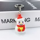New Creative PVC Silicone Christmas Key Ring Keychain Small Gift Bag Car Key Pendant snowman