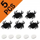 Non Woven Felt Black Spider Home Decoration for Halloween Ghost Festival Party black_8.x6.3cm