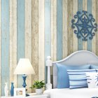 Non Woven Wood Pattern Wallpaper Retro Wall Sticker Background Wall Decoration 10 meters long * 0.53 meters wide