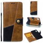 Stitching leather protective case for iphone