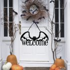 Non-woven Bat Pattern Hanging Pendant for Home Halloween Door Decor JM01509
