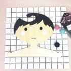 Nordic Style Cartoon Boy Pattern Wood Hanger Storage Rack for Kids Clothes Room Decoration black_9