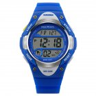 Novelty Digital Kids <span style='color:#F7840C'>Watch</span> Outdoor Sports Children's Waterproof Wrist Dress <span style='color:#F7840C'>Watch</span> With LED Digital Alarm Stopwatch Lightweight Silicone Blue