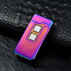 Novelty USB Charge Dual Coil & Arc Plasma Windproof Electronic Charging Lighters Colorful ice