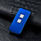 Novelty USB Charge Dual Coil & Arc Plasma Windproof Electronic Charging Lighters Blue ice