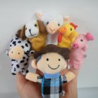 Nursery Rhyme Soft Animal Finger Puppets Set for Old Macdonald Had a Farm